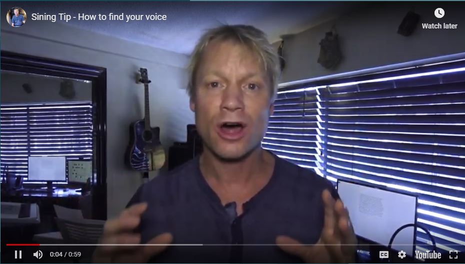 Singing Tip - How to find your voice